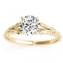 Diamond Antique Style Engagement Ring 18k Yellow Gold (0.03ct)