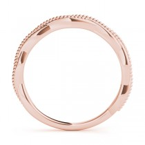 Twisted Infinity Stackable Ring Wedding Band 14k Rose Gold