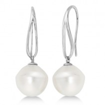 Circle' South Sea Cultured Paspaley Pearl Earrings 14K White Gold (12mm)