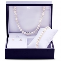 Freshwater Pearl Jewelry Set 6.0-6.5mm Sterling Silver