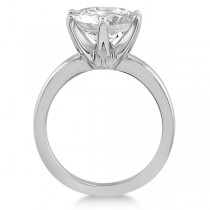 Round Solitaire Moissanite Engagement Ring 14K White Gold 3.50ctw