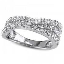 3 Band Prong Set Diamond Fashion Ring Set in Sterling Silver 0.25ctw