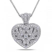 Silver heart lockket