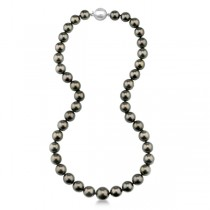 Women's AAA Tahitian Pearl Strand Necklace 18 inch Station 8.0-10.5mm