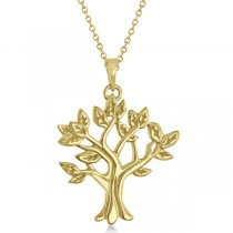 My Tree of Life Pendant Necklace in Solid 14K Yellow Gold