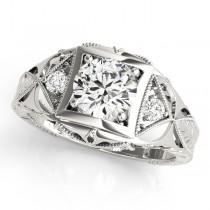 Vintage Victorian Diamond Engagement Ring Platinum (0.57ct)