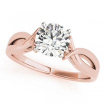 Solitaire Bypass Diamond Engagement Ring 14k Rose Gold (1.00ct)