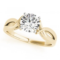 Solitaire Bypass Diamond Engagement Ring 14k Yellow Gold (1.00ct)