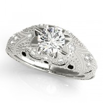 Art Nouveau Diamond Antique Engagement Ring Platinum (0.90ct)