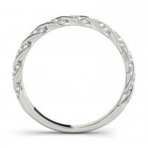 Diamond Twist Fashion Ring Wedding Band 14k White Gold (0.23ct)