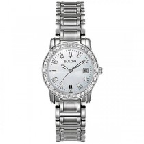 Bulova Women's Diamond Accented Mother-of-Pearl Stainless Steel Watch
