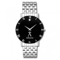 Allurez Diamond Solitaire Dial Fashion Watch for Men Swiss Made