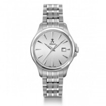 Allurez Women's Stainless Steel Silver Dial Swiss Made Luminous Watch