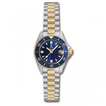 Allurez Two-Tone Tachymeter Luxury Diver Watch Stainless Steel Women's