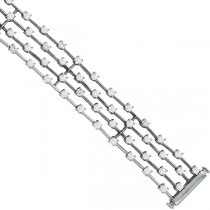Four Rows Bridal Diamond Bracelet in 14K White Gold  (4.50ctw)