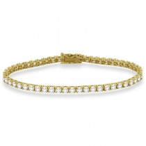 Eternity Diamond Tennis Bracelet 14k Yellow Gold (7.08ct)