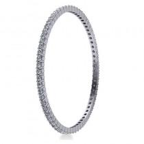 Stackable Diamond Bangle Eternity Bracelet 14K White Gold (7.00ct)