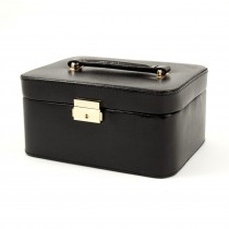 Leather Jewelry Box For 3 Watches w/ Compartments & Case