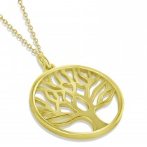 Family Tree of Life Pendant Necklace 14k Yellow Gold