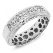 0.35ct 14k White Gold Diamond Invisible Lady's Band