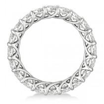 Clearance Luxury Diamond Eternity Anniversary Ring Band 14k White Gold (3.50ct)