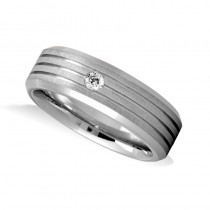 8fbfde6b387f5 Burnished Diamond Mens Wedding Band Ring 14K White Gold (0.08 ct ...