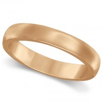 Dome Comfort Fit Wedding Ring Band 14k Rose Gold (2mm)