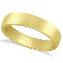 Dome Comfort Fit Wedding Ring Band 14k Yellow Gold (4mm)