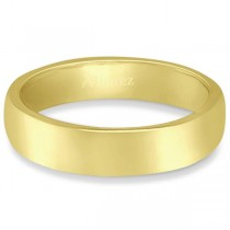 Dome Comfort Fit Wedding Ring Band 18k Yellow Gold (4mm)