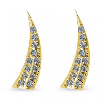 Horn Ear Cuffs with Diamond Accents 14K Yellow Gold (0.24ct)