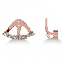 Freeform Diamond Earring Jackets in 14k Rose Gold (0.70ct)
