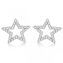 Fancy Star Diamond Earrings in 14K White Gold (0.25ct)