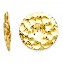Hammered Disc Earring Jackets