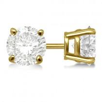 0.50ct. 4-Prong Basket Diamond Stud Earrings 14kt Yellow Gold (H, SI1-SI2)