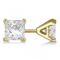 2.50ct. Martini Princess Diamond Stud Earrings 14kt Yellow Gold (H-I, SI2-SI3)