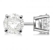1.00ct. 4-Prong Basket Diamond Stud Earrings Palladium (G-H, VS2-SI1)