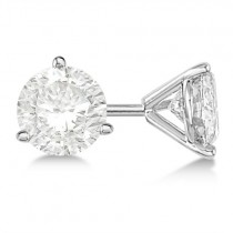 1.50ct. 3-Prong Martini Diamond Stud Earrings 14kt White Gold (H, SI1-SI2)