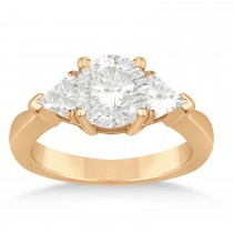Diamond Trilliant Three Stone Engagement Ring 14k Rose Gold (0.70ct)