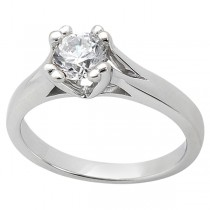 Double Prong Trellis Engagement Ring Setting in 14k White Gold