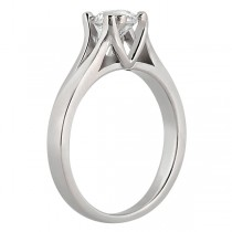 Double Prong Trellis Engagement Ring Setting in 18k White Gold