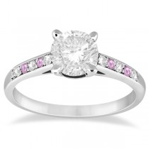 Cathedral Pink Sapphire & Diamond Engagement Ring Platinum (0.20ct)