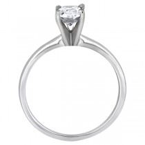 Four-Prong Platinum Solitaire Engagement Ring Setting