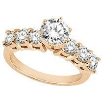 Seven-Stone Diamond Engagement Ring in 18k Rose Gold (0.30 ctw)
