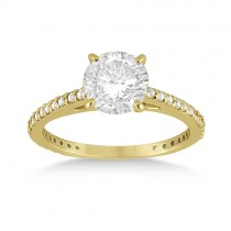 Petite Eternity Diamond Engagement Ring 14k Yellow Gold (0.55ct)