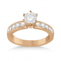 Channel Set Princess Diamond Engagement Ring 14k Rose Gold (0.50ct)