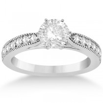 Cathedral Antique Style Engagement Ring in Palladium (0.28ct)