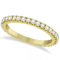 Round Diamond Eternity Wedding Ring 14K Yellow Gold Diamond Band (0.58ct)