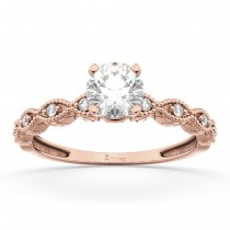 Petite Marquise Diamond Engagement Ring 18k Rose Gold (0.10ct)