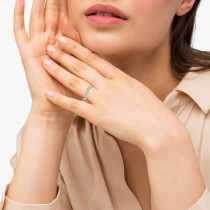 Antique Marquise Shape Diamond Wedding Ring 14k White Gold (0.10ct)