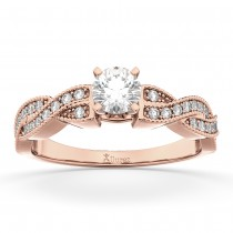 Infinity Twisted Diamond Engagement Ring 14k Rose Gold (0.25ct)